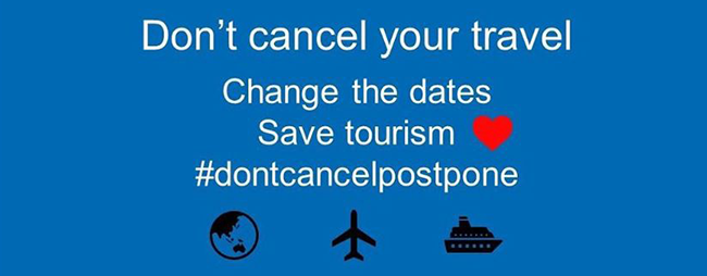 Don't cancel, postpone - photo